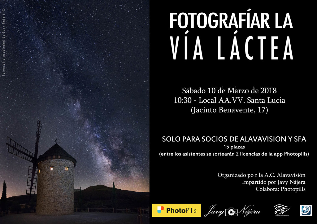 Cartel taller Via LActea